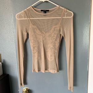 Mesh long sleeve